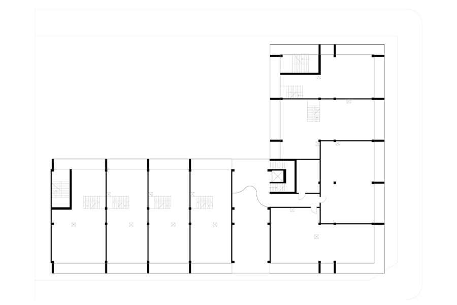 Architecture on Time Axis - Fourth Floor Plan